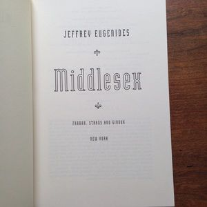 "Vintage Accents - Jeffrey Eugenides ""Middlesex"""
